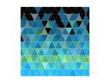Blue Triangles Pattern Posters by Maksim Krasnov