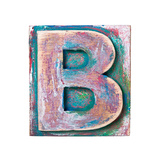 Wooden Alphabet Block, Letter B Prints by  donatas1205