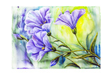 Wildflowers. Watercolor Painting Poster by  Valenty