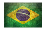 Grunge Flag Of Brasil Posters by  yuran-78