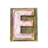 Wooden Alphabet Block, Letter E Posters by  donatas1205