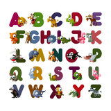 Animal Alphabet Reproduction giclée Premium par  chaikades