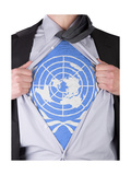 Business Man With Un Flag T-Shirt Prints by  IJdema