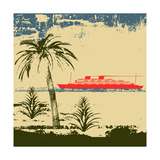 Tropical Cruise Background Prints by  Petrafler