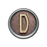 Metal Button Alphabet Letter Posters by  donatas1205