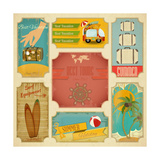 Set Of Retro Summer Labels Poster by  elfivetrov