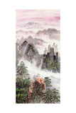 Chinese Painting Of High Mountain Affiches par  aslysun