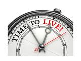 Time To Live Concept Clock Posters av  donskarpo