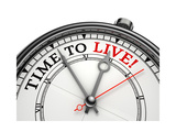 Time To Live Concept Clock Prints by  donskarpo