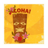 Vintage Hawaiian Postcard 高画質プリント :  elfivetrov