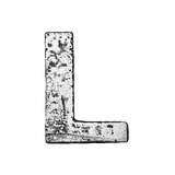 Metal Alloy Alphabet Letter L Posters by  donatas1205