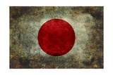 The National Flag Of Japan Affiches par Bruce stanfield