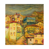 Old Yellow Village Houses Prints by  kirilstanchev