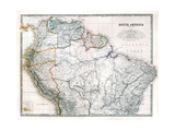 Old Map Of Northern South America Prints by  Tektite