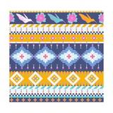 Aztecs Seamless Pattern Premium Giclee Print by  tomuato