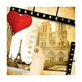 Love Paris - Vintage Photo-Album Art by  Maugli-l