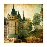 Castles Of France - Vintage Series Prints by  Maugli-l