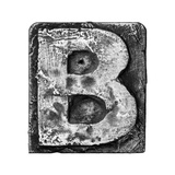 Metal Alloy Alphabet Letter B Posters by  donatas1205