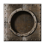 Armored Metal Porthole Background Premium Giclee Print by  Andrey_Kuzmin