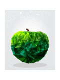 Green Apple Geometric Shape Posters by  cienpies