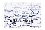 Close Up Of Guatemala On Map Prints by  mtkang