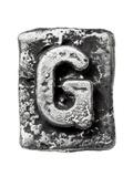 Metal Alloy Alphabet Letter G Prints by  donatas1205