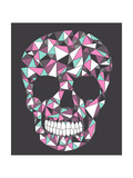 Skull With Geometric Pattern Posters by cherry blossom girl