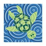 Piccola - Aboriginal Abstract Art - Reprodüksiyon