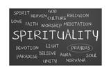 Spirituality Word Cloud Prints by  IJdema