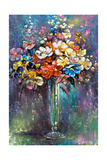 Glass Vase With A Bunch Of Flowers Posters by  balaikin2009