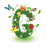 "Beautiful Spring Letter ""G"" Premium Giclee Print by  Kesu01"