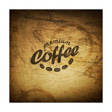 Coffee Grunge Retro Background Posters by  pashabo