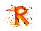 Watercolor Paint - Letter R Pósters por  -Vladimir-