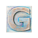 Wooden Alphabet Block, Letter G Posters by  donatas1205