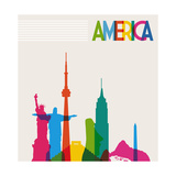 Monument America Plakat af  cienpies
