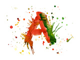 Watercolor Paint - Letter A Prints by  -Vladimir-