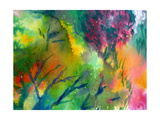 Colorful Watercolor Painting 1 Poster by Kathie Nichols