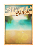 Summer Paradise Background Posters by  IstONE