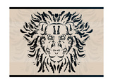 Ornate Decorative Lion Art by  Graphicgeoff