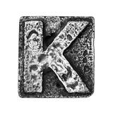 Metal Alloy Alphabet Letter K Print by  donatas1205