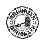 Brooklyn Grunge Rubber Stamp Poster by  oxlock