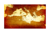 Old Mediterranean Map Prints by  goliath