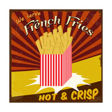 French Fries Vintage Poster Premium Giclee Print by  radubalint