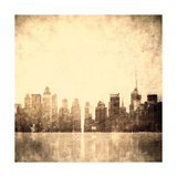 Grunge Image Of New York Skyline Prints by  javarman