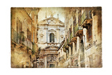 Italian Old Town Streets- Lecce Poster by  Maugli-l