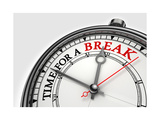 Time For A Break Concept Clock Prints by  donskarpo