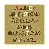 Alphabet - Capital And Lower Case Prints by  elfivetrov