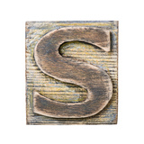Wooden Alphabet Block, Letter S Posters by  donatas1205