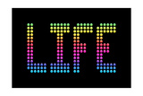 Life In Technicolor On A Led Board Posters by  wongstock