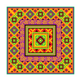 Mexican Square Background Poster by  valeriya